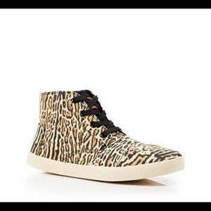 TOMS Leopard Print Paseo High Top Sneakers